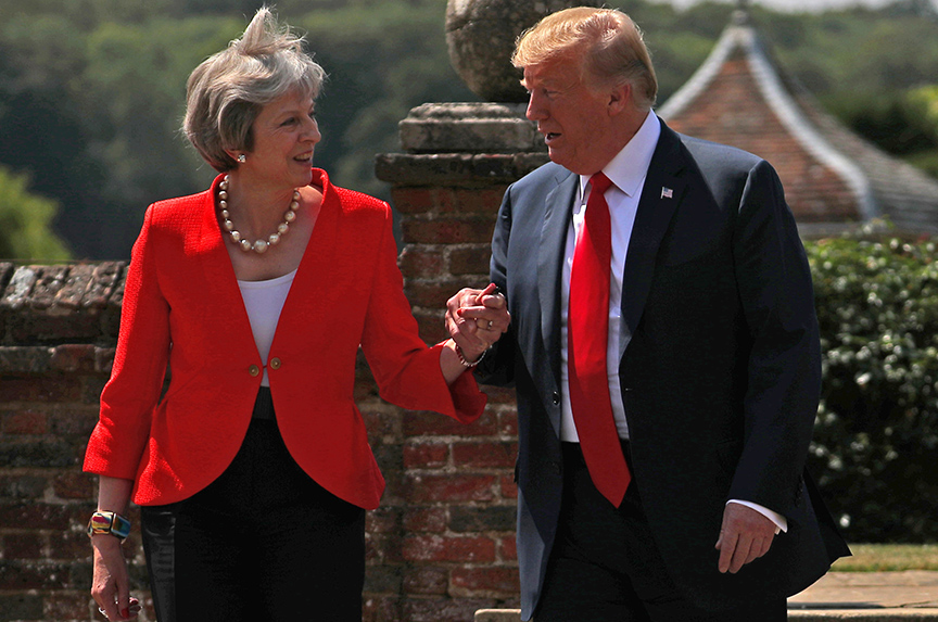 Donald Trump and Theresa May: On the Issues