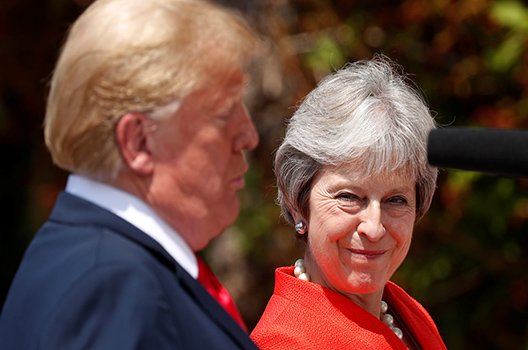 In the United Kingdom, Trump and May Put Up a United Front