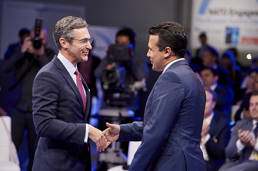 Macedonian Prime Minister Celebrates NATO Invitation