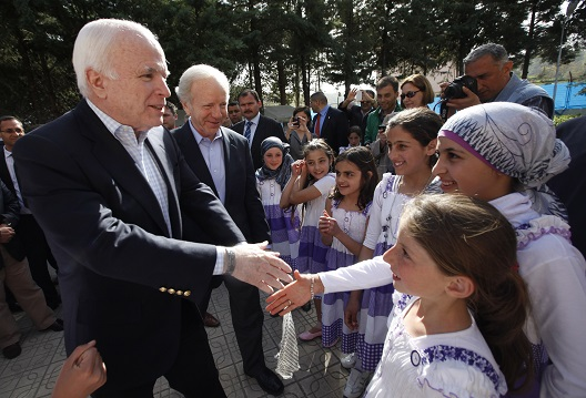 From Syria with love, Senator McCain