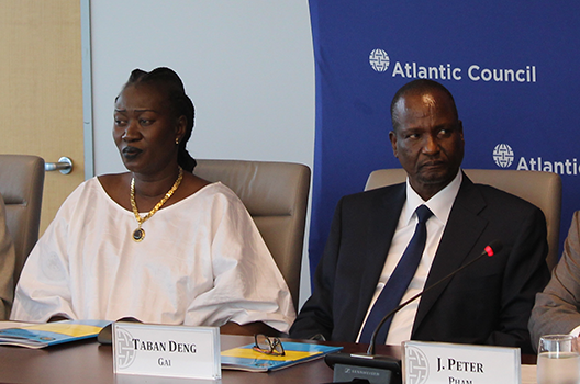 High-level roundtable with South Sudan's First Vice President Taban Deng Gai