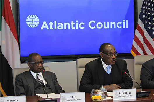 Roundtable with Sudan's minister of foreign affairs