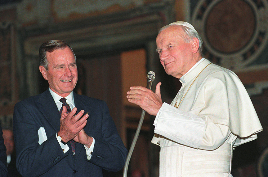 George H.W. Bush: the right man at the right time
