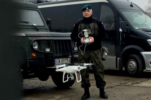 #StrongerWithAllies: Polish major enlists his personal drone in his unit's mission