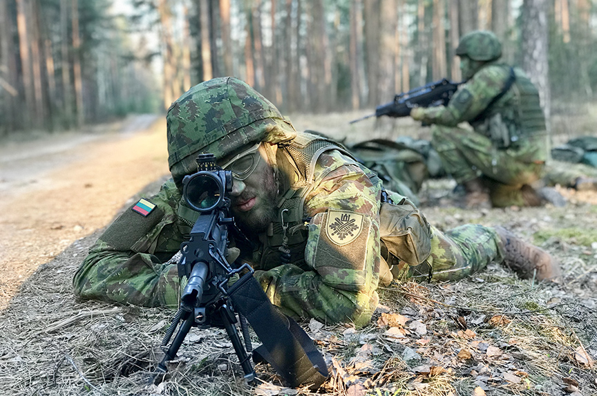 #StrongerWithAllies: Lithuanian sharpshooter has security in his sights