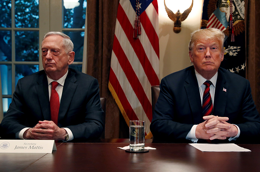 Mattis heads for the exit