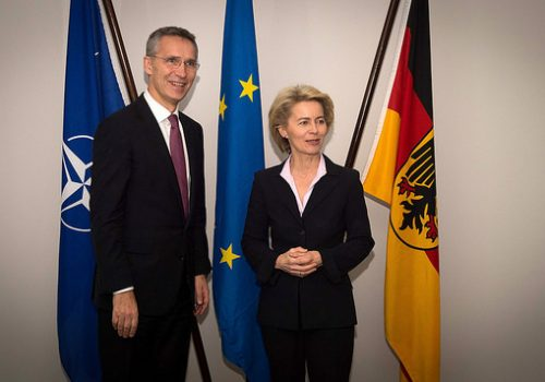 Secretary General Jens Stoltenberg and German Defense Minister Ursula von der Leyen, January 14, 2015
