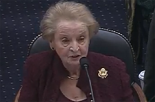 Secretary Madeleine K. Albright Testifies on the Trump Administration's Foreign Policy