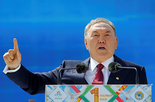 Nazarbayev begins uncertain transition in Kazakhstan