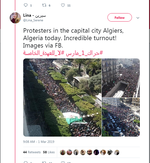 Tweet of protests resized