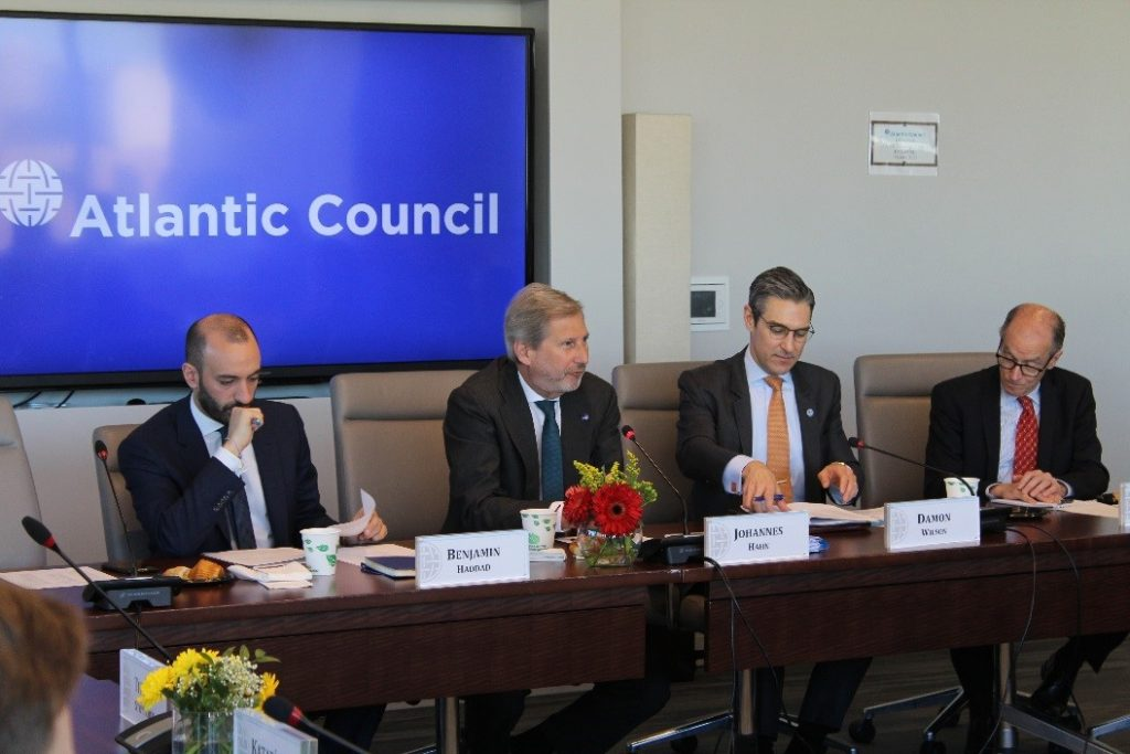 Private roundtable with European Commissioner Johannes Hahn