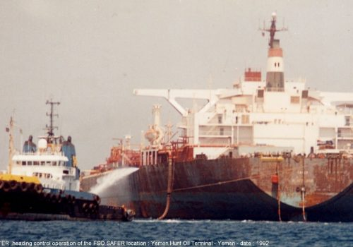 The United Nations Security Council needs to authorize military action to prevent the spill of the FSO SAFER