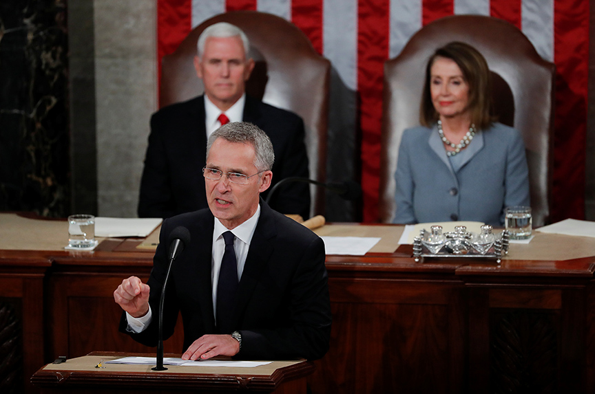 'It is good to have friends,' NATO secretary general tells Congress