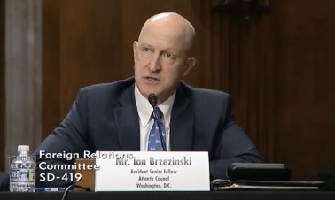 Brzezinski Testifies Before Senate Foreign Relations Committee on NATO's Role in the 21st Century