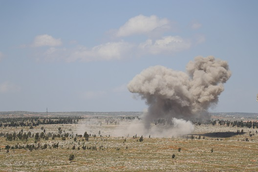 Barrel bomb photo article
