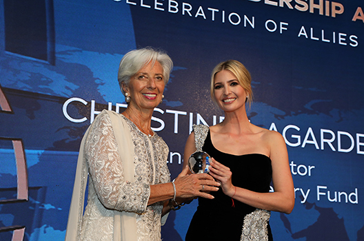 Christine Lagarde Ivanka Trump large