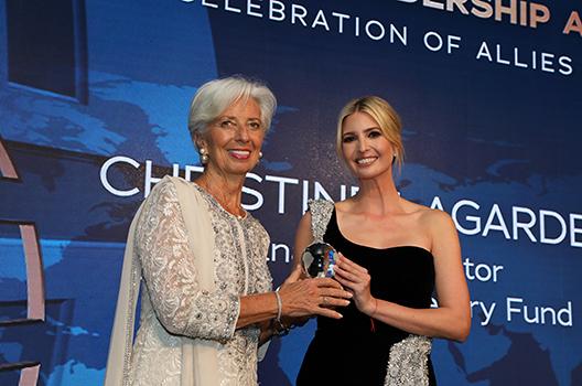 Christine Lagarde Ivanka Trump large