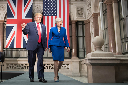 May and Trump attempt to show united transatlantic front