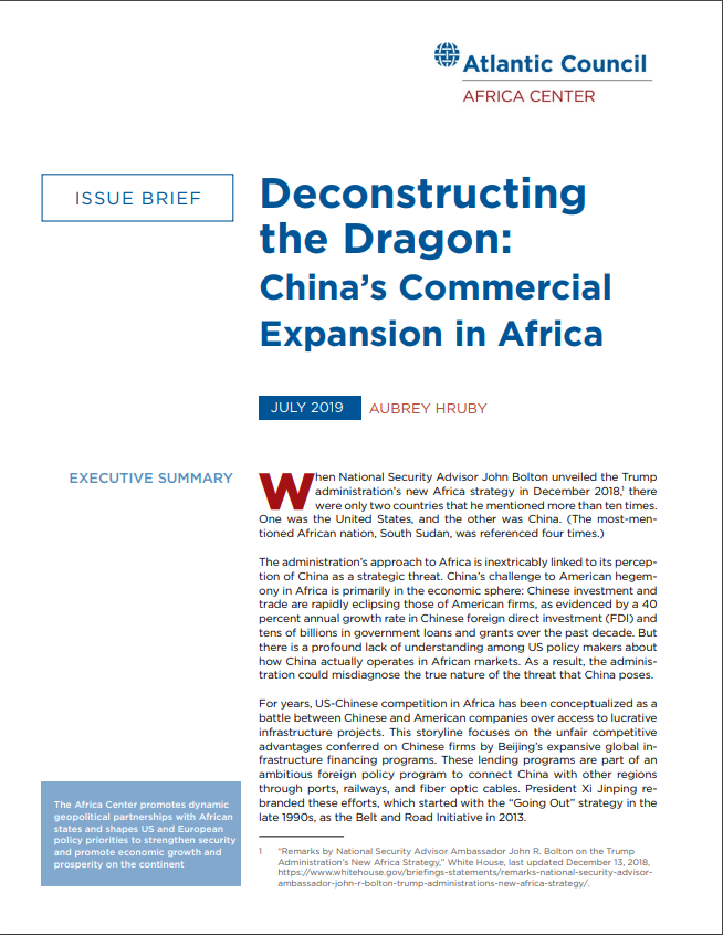 Deconstructing the Dragon: China's commercial expansion in Africa