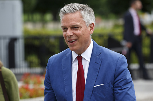 US ambassador to Russia Jon Huntsman resigns