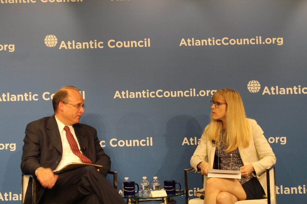 Missy Ryan of The Washington Post engages Assistant Treasury Secretary for Terrorist Financing Marshall Billingslea in conversation