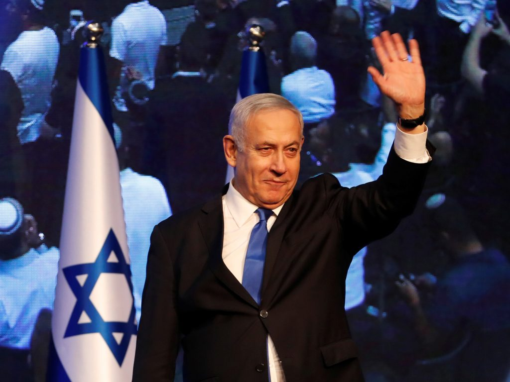 Netanyahu teetering after inconclusive Israeli election