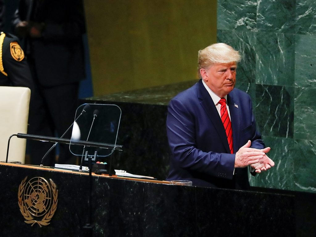 Trump defends his foreign policy to the world at UNGA