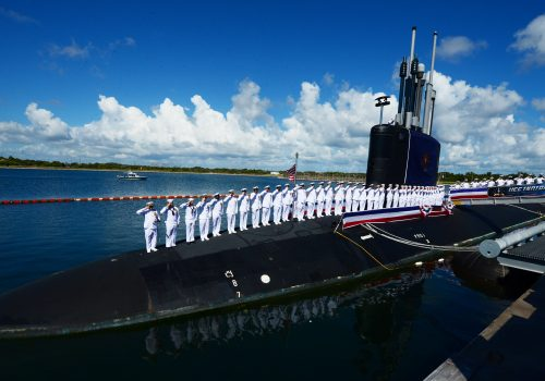 nuclear submarine and military members