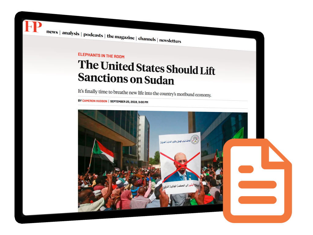 Media Mention: Cameron Hudson in Foreign Policy Magazine