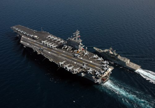 Nuclear-powered US aircraft carrier