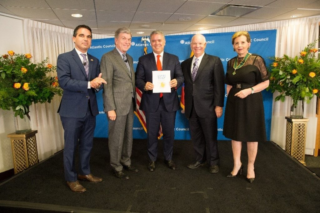 Launch of US-Colombia Task Force Report with President Iván Duque and Senators Roy Blunt and Ben Cardin