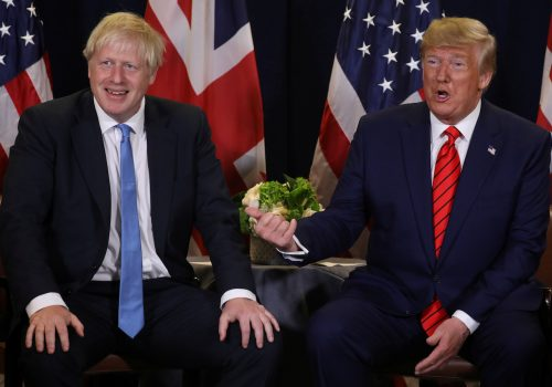 President Trump and Prime Minister Johnson meet with each other