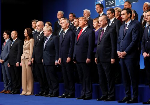 NATO leaders pose for a group photo