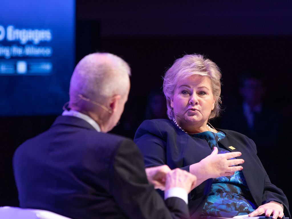 Norwegian PM explains how NATO can help combat climate change