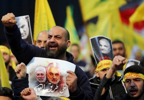 Soleimani's grave isn't all hearts and roses, like Hezbollah fighters