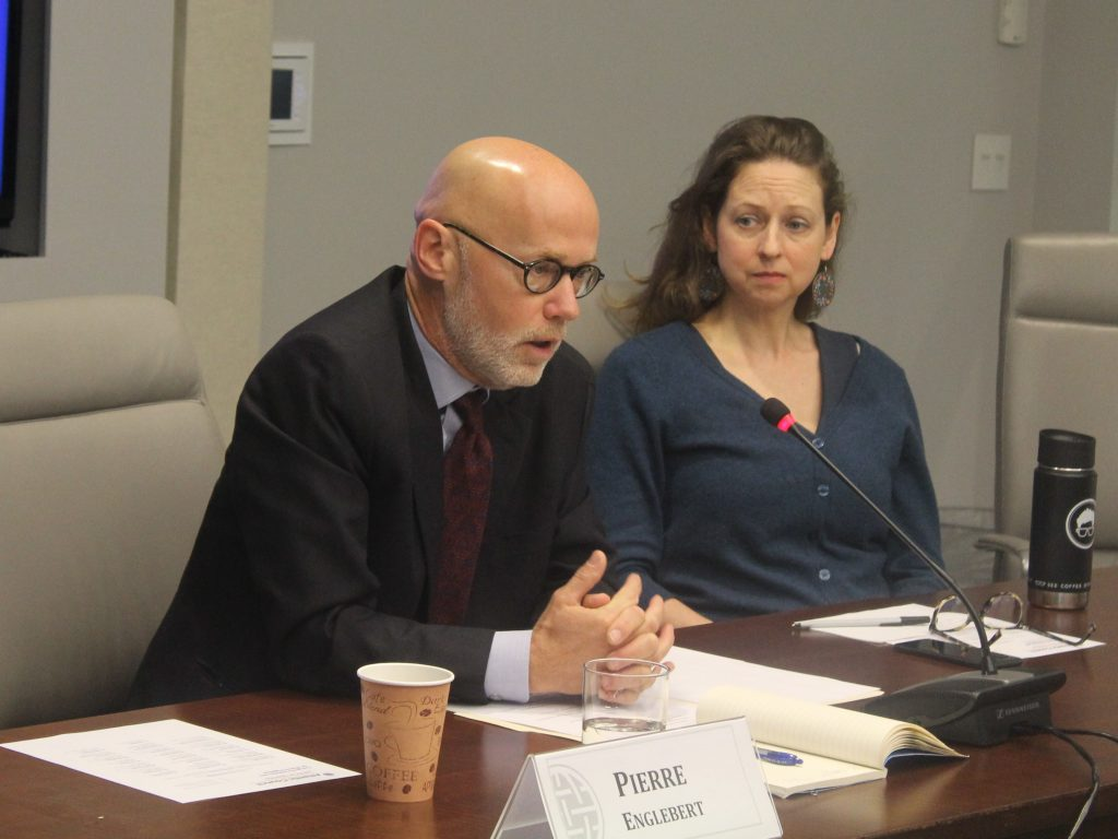 Dr. Pierre Englebert discusses the current political situation in the Democratic Republic of Congo