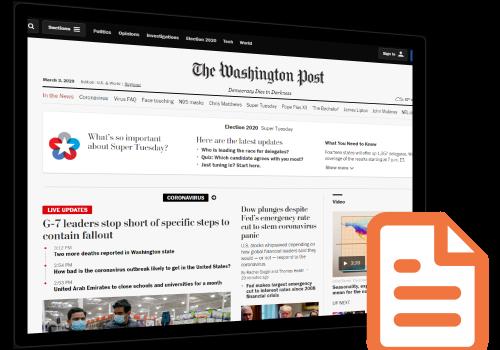 William Wechsler and Kirsten Fontenrose in the Washington Post