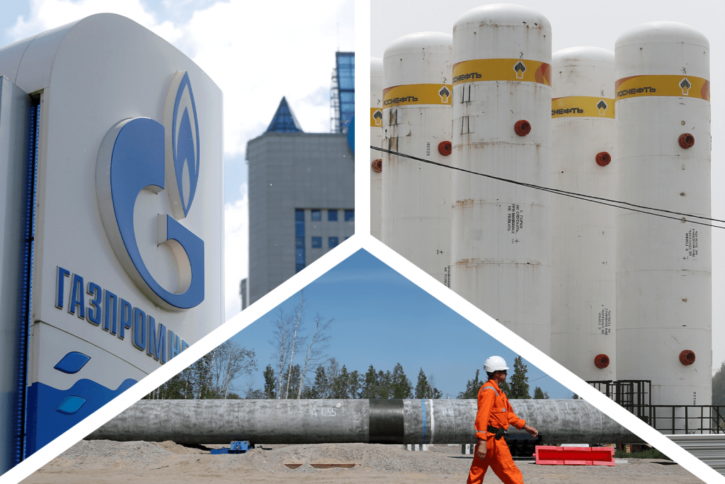 New challenges and dwindling returns for Russia's national champions, Gazprom and Rosneft