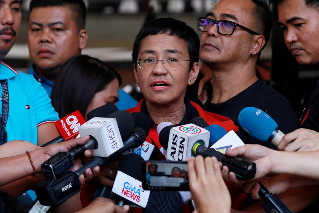 How Maria Ressa described her fight for press freedom before her conviction