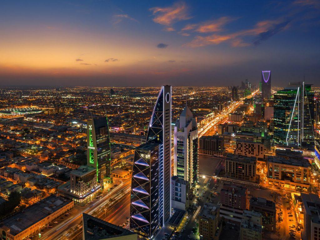 Skyline in Riyadh, Saudi Arabia