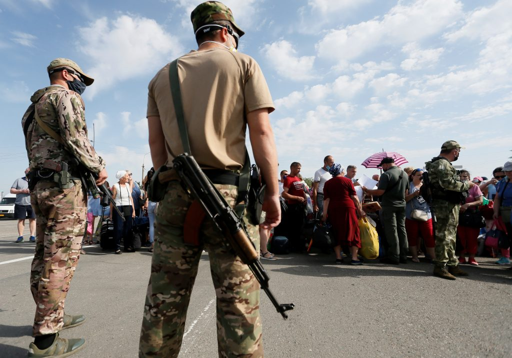 Coronavirus chaos reigns at front line checkpoints in Russian-occupied Ukraine