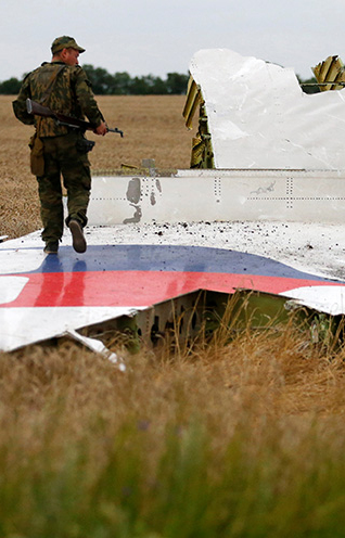The shoot-down of MH17