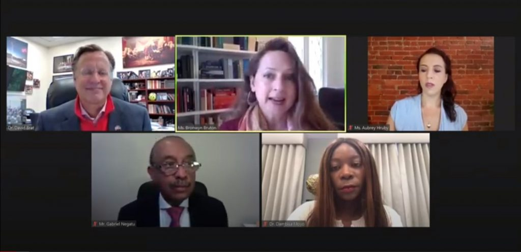 Dr. Dambisa Moyo, panel reinvigorate debate on a Marshall Plan for Africa