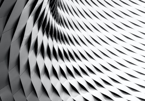 gtc abstract pattern of black and white tiles that curve