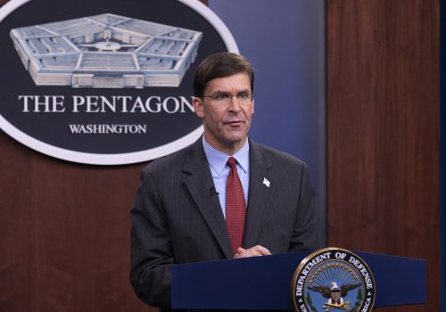 Strengthening US alliances and partnerships in an era of great-power competition: A conversation with US Secretary of Defense Mark Esper
