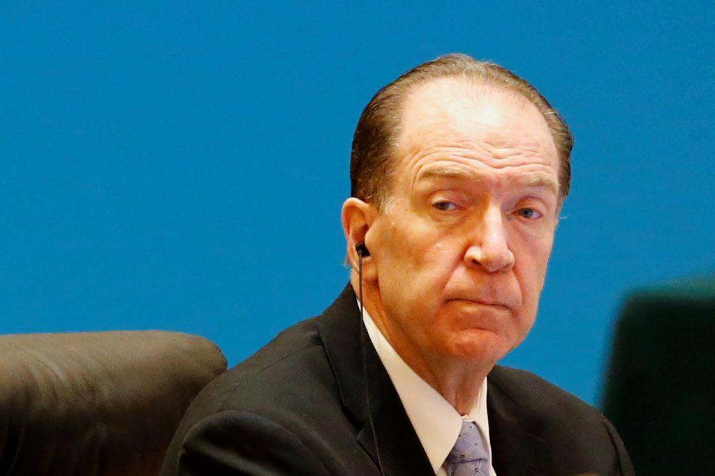 China's economic transformation must change its relationship with the world, says World Bank President David Malpass
