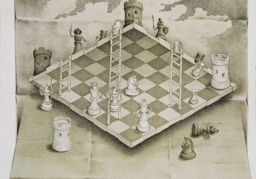 GeoTech's Smart Partnerships report, image of a chessboard
