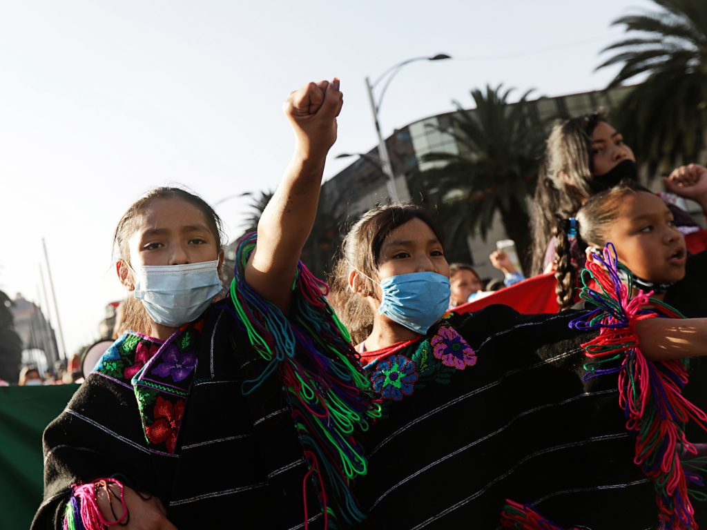 Women's antiviolence demonstration in Mexico