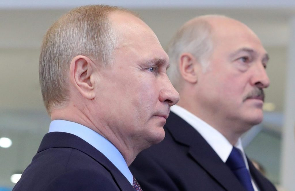 "Time to sanction the Putin-Lukashenka ""axis of autocrats"""