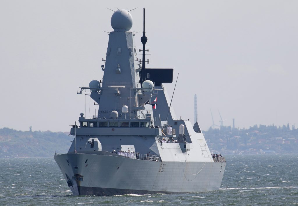 British warship challenges Russian claims to Crimea